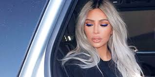kim kardashian breaks down exactly how to copy her electric blue makeup look