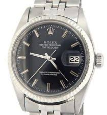 men s rolex watches new used vintage rolex datejust mens stainless steel 18k white gold black watch jubilee 1601