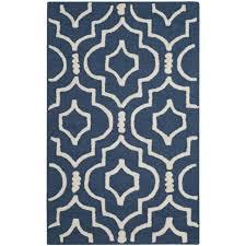 safavieh handmade moroccan cambridge trellis pattern navy ivory wool rug