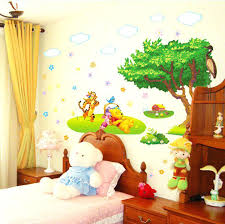 winnie the pooh wall decor the pooh wall sticker baby kids room cartoon wall decal art