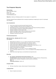 ... sample tax preparer resume include professional experience and  financial inc business ...
