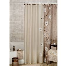 beautiful ceramic floor and captivating tile brown colors with appealing shower curtains in brown