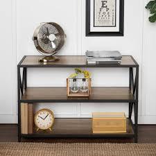 walker edison furniture company 40 industrial wood bookcase rustic oak