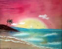 beach sunset full image