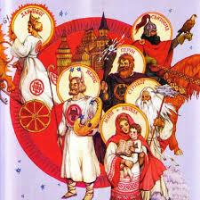 Славянские боги Боги славян Русские боги Пантеон Древняя   свойственная многим народам поклонявшимся нескольким богам Свой пантеон богов был и у древних славян хотя из общего числа у разных славянских племен