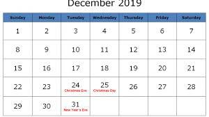 January To December 2019 Calendar Printable Pdf Word Excel
