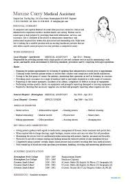 Examples Of Medical Assistant Resume Free Medical Assistant Resume