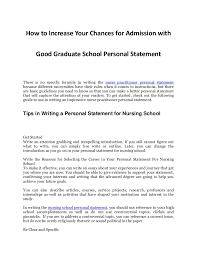 tips in increasing your chances for admission an impressive nurs