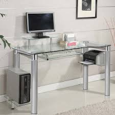 glass computer desk with drawers glass computer desk featured with some drawers galilaeum home site