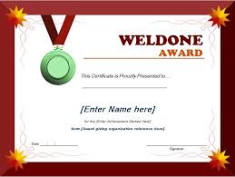 award certificates template well done award certificate template word excel templates