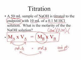 Titration Formula Ap Chem Titration Calculations Youtube