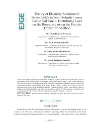 Elastic Theory Of Design Pdf Theory Of Elasticity Solution For Stress Fields In Semi
