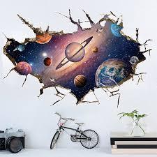 3D Planet <b>Wall</b> Sticker Mural Decal <b>Universe Star Wall</b> Paper ...