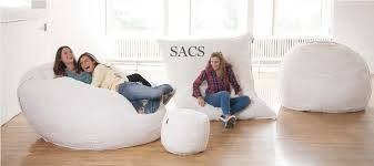pillow chair. the sac comes in six sizes, including a rectangular shaped pillowsac. available on lovesac.com, largest of models is 8 feet wide and weighs at 95 pillow chair