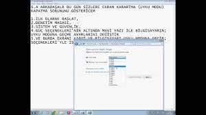 Uyku Modu Kapatma Sorunu Windows7 - YouTube