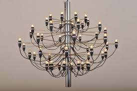 vintage model 2097 chandelier by gino sarfatti for flos 2