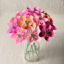 Paper Flower Bouquet In Vase Paper Flower Bouquet In Shades Of Pink