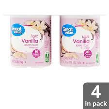 Great Value Light Vanilla Greek Yogurt Nutrition Facts Great Value Light Vanilla Nonfat Yogurt 6 Oz 4 Count