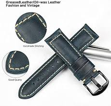 <b>MAIKES</b> Vintage Oil Wax Leather Strap Watch Band 5 Colors ...