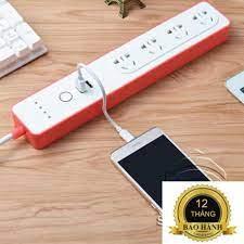 Ổ Cắm Thông Minh Ổ Cắm 4 Cổng Kéo Dài Điều Khiển Qua Wifi Tuya Smart Ổ cắm  WIFI