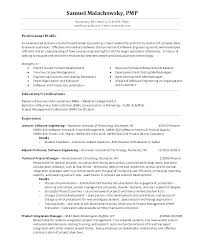 Junior Project Manager Resume Templates Jr Retail Resumes Format