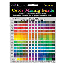 Artist Color Mixing Chart Magic Palette Color Mixing Guides Art Supply Catalog