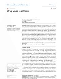 drug abuse in athletes pdf available