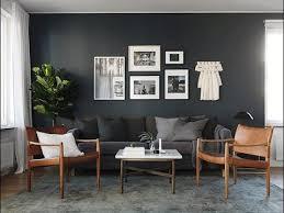 interior design dark grey walls