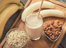 diy protein shake almond recovery