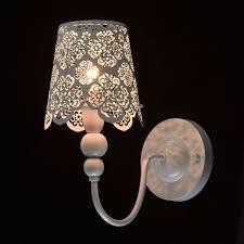 Wandlampe Weiß Aus Metall Landhaus Stil Romantisch Betula