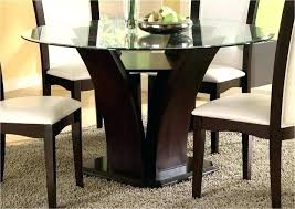 glass table dining room sets contemporary round glass dining table dining chair modern round black glass