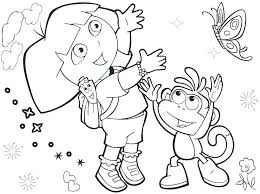 printable coloring pages the explorer sheets dora books book pdf colo