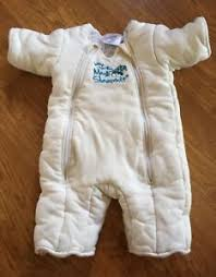 Merlin S Magic Sleepsuit Sizing Chart Details About Baby Merlins Magic Sleepsuit Size Large 6 9 Mos Ivory Cotton Fall Winter Guc
