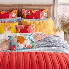 the pioneer woman ticking stripe duvet cover cotton blue full queen bedding new