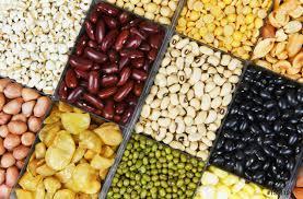 Collage varios frijoles mezclan guisantes agricultura de alimentos  naturales saludables - foto de stock   Crushpixel