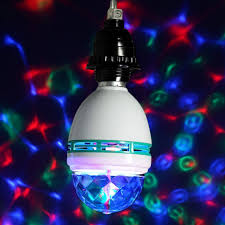 Rotating Led Disco Light Bulb Rgb Effect 3x Led Rotating Stage Crystal Ball Led Light Lamp