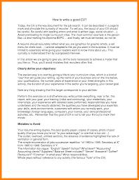 How To Make A Good Resume For A Job 100 how to make a good cv resumed job 26