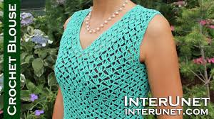 Youtube Crochet Patterns Best Vneck Blouse Crochet Pattern YouTube