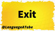 Image result for how to pronounce exit