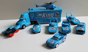 cars the movie the king. Wonderful King Dinoco The King Truck Hauler And Lightning Mcqueen Diecast Pixar Cars Movie   YouTube And T