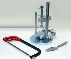 soil lathe trimmer and extruder sample extruder