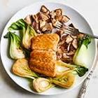 baked salmon with bok choy