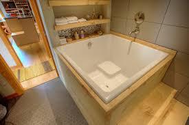 Ofuro Style Soaking Tub Bathroom Remodel asian-bathroom