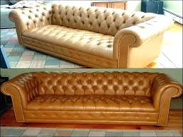 re worn leather sofa color furniture couch cognac elegant dye reviews restoring co how to repair