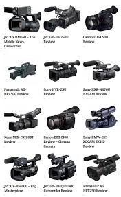 Canon Camcorder Comparison Chart Epfilms Best Pro Camcorders 4k 6k 8k Video Cameras Dslr