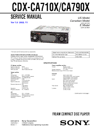 sony cdxcax wiring diagram schematics and wiring diagrams sony cdx ca710x ca790x service manual schematics