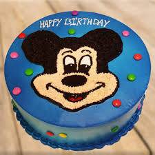 send clever mickey mouse cake