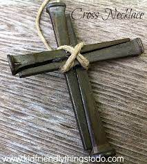 making a cross necklace out of nails a