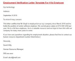 A company's letterhead easily spells out company name, complete address, phone numbers, fax numbers and email address. Letter Of Employment Verification Template Letter