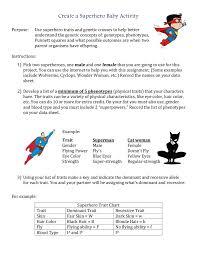 Characteristics Of A Superhero Create A Superhero Baby Activity Purpose To Apply Your